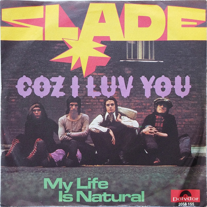 Slade Coz I Love You Germany front
