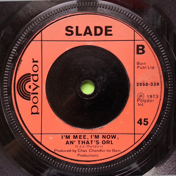 Slade Cum On Feel The Noize UK side 2