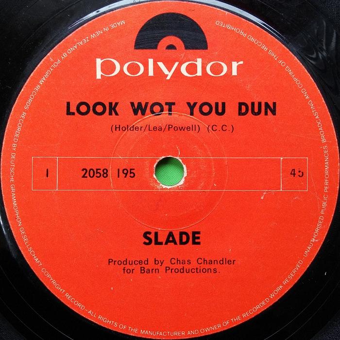 Slade Look Wot You Dun New Zealand side 1