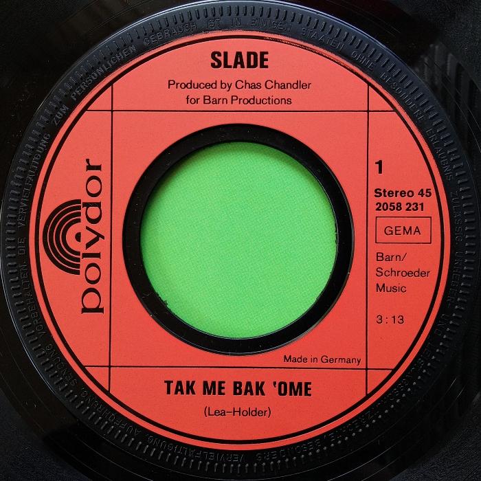 Slade Tak Me Bak Ome Germany side 1