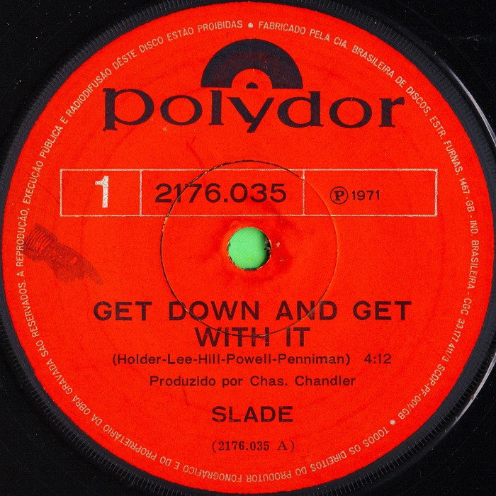 Slade Get Down And Get With It Brazil side 1