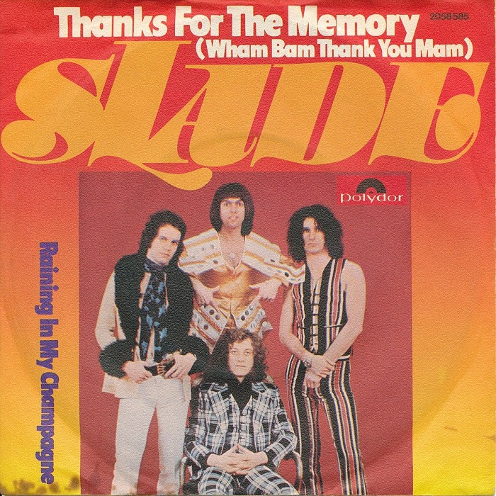 Slade Thanks For The Memory front Germany