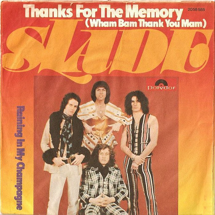 Slade Thanks For The Memory back Germany
