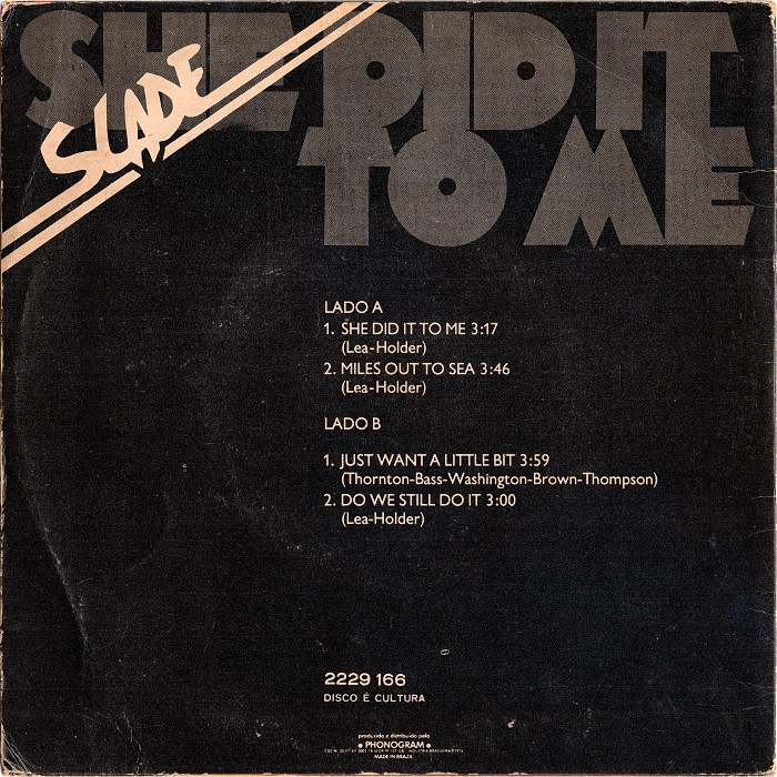 Slade She Did It To Me Brazil EP back