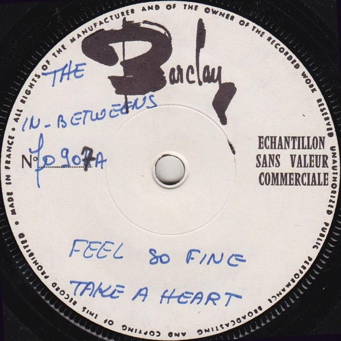 The In-Betweens (Slade) Feel So Fine EP France test-pressing side 1