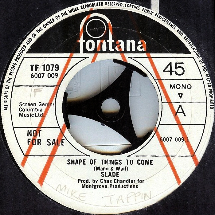 Slade Shape of Things To Come UK side 1