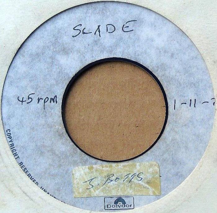 Slade Mama Weer All Crazee Now UK promo side 1
