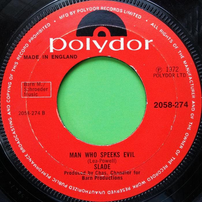 Slade Mama Weer All Crazee Now UK promo side 2