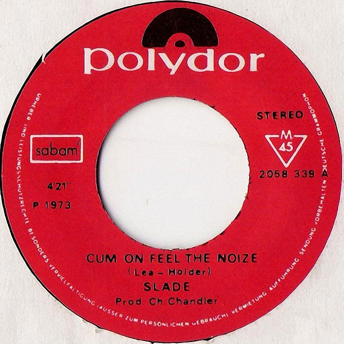 Slade Cum On Feel The Noize Belgium side 1 #2