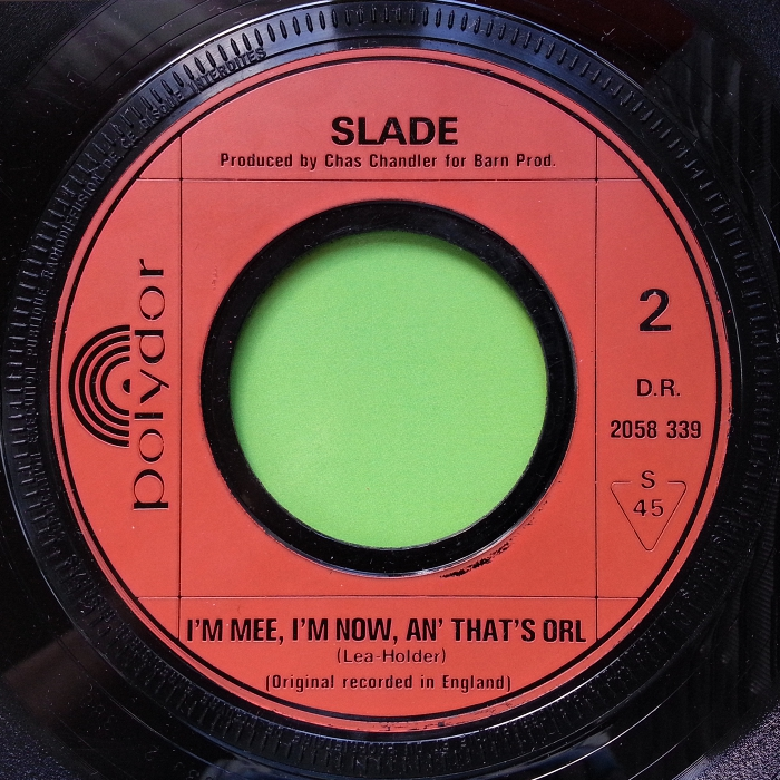 Slade Cum On Feel The Noize France side 2