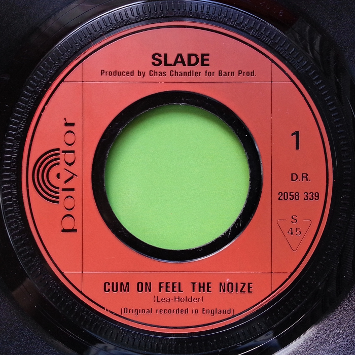 Slade Cum On Feel The Noize France side 1