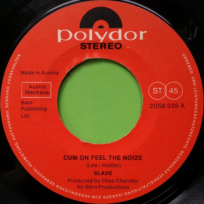 Slade Cum On Feel The Noize Austria side 1