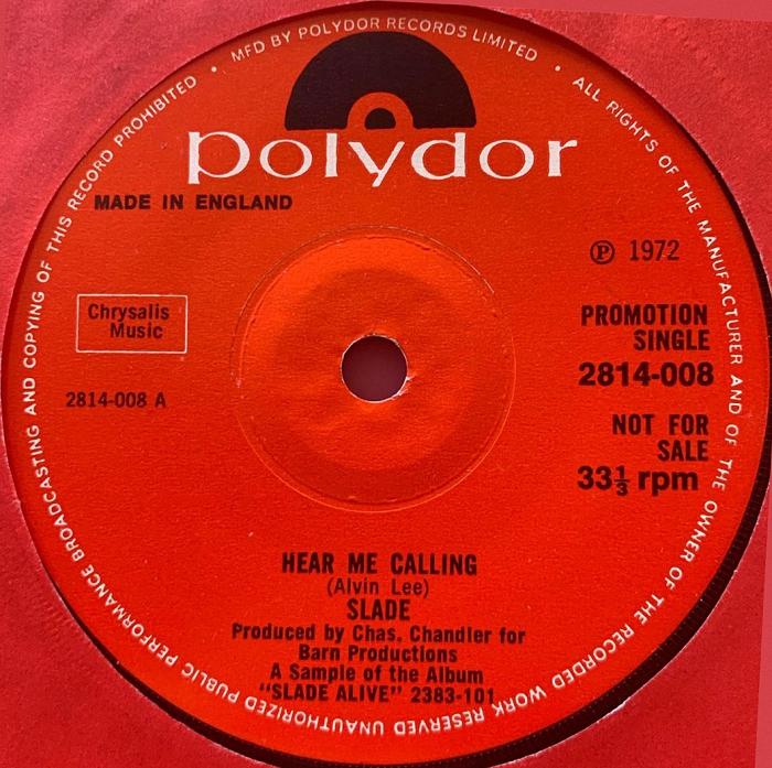 Slade Hear Me Calling acetate UK side 1