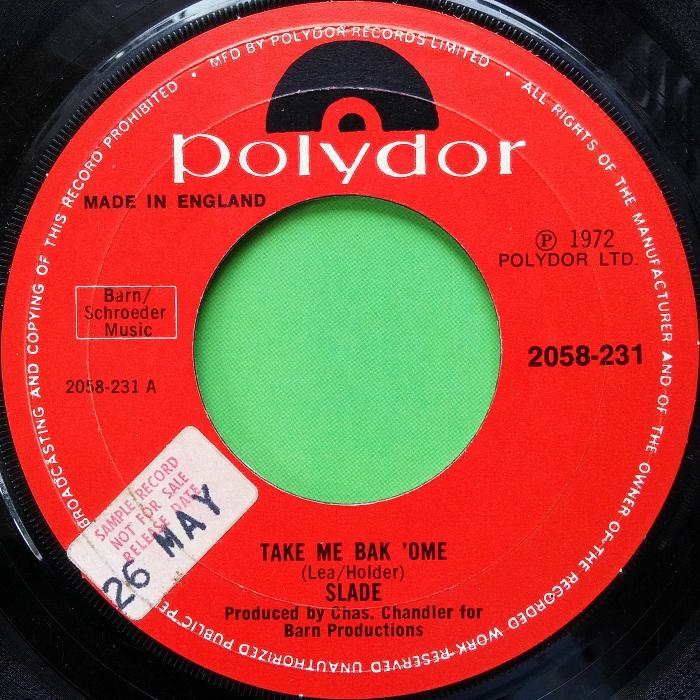 Slade Take Me Bak 'Ome UK promo side 1