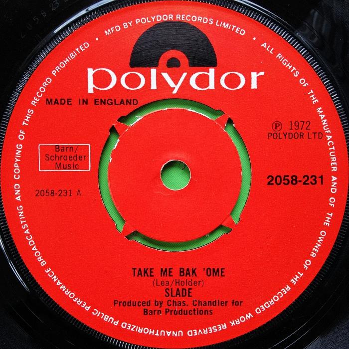 Slade Take Me Bak Ome UK side 1