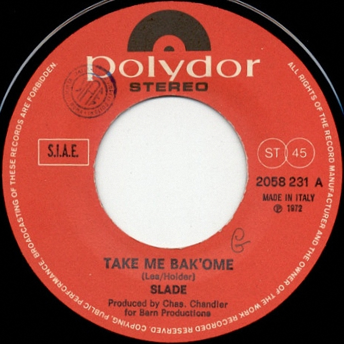 Slade Take Me Bak Ome Italy side 1