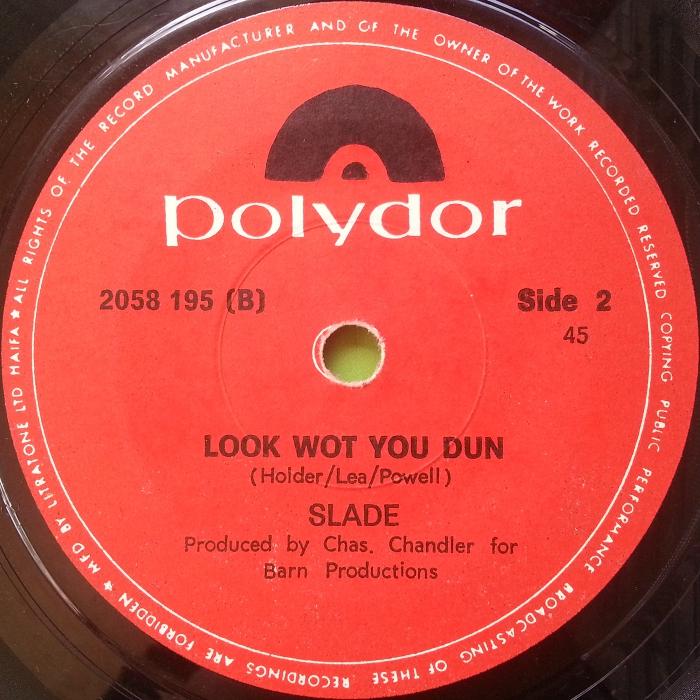 Slade Take Me Bak Ome Israel side 2