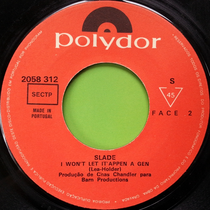Slade Gudbuy T' Jane Portugal side 2