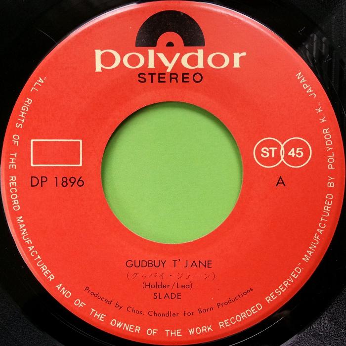Slade Gudbuy T Jane Japan side 1