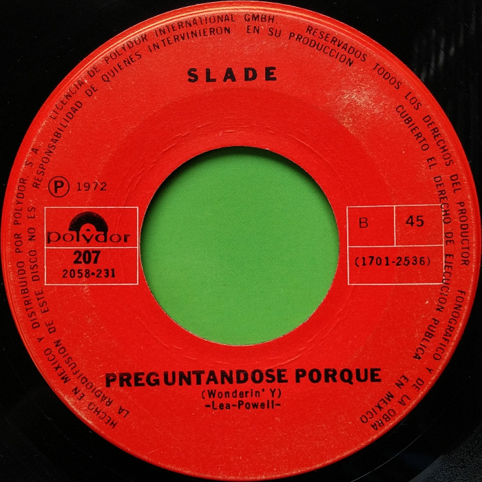 Slade Take Me Bak Ome Mexico side 2