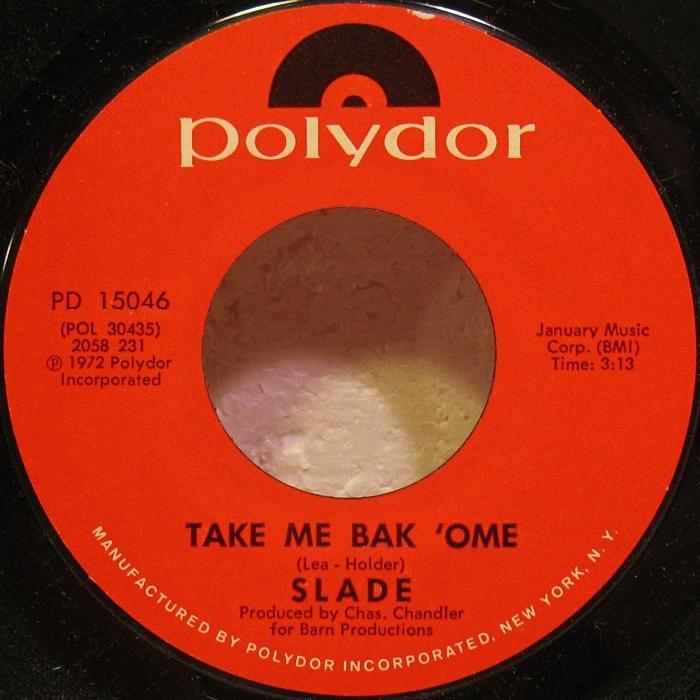 Slade Tak Me Bak Ome USA side 1