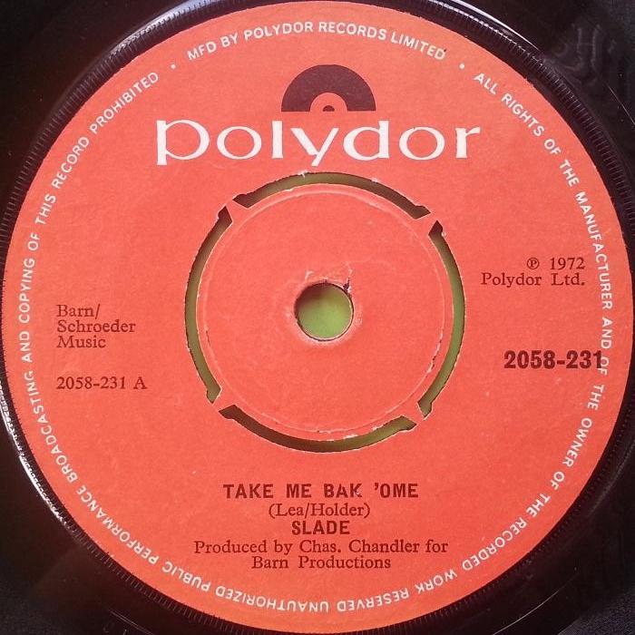 Slade Take Me Bak Ome Ireland side 1