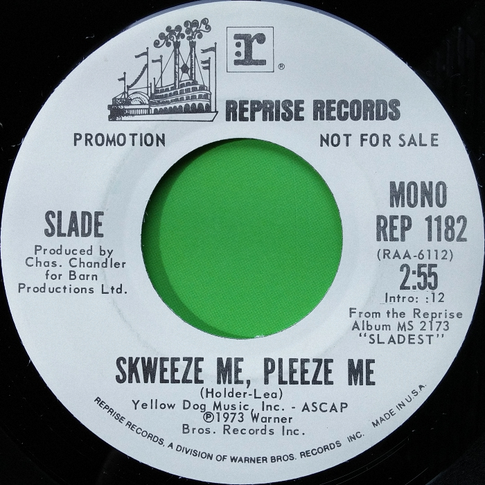 Slade Skweeze Me Pleeze Me promo USA side 2