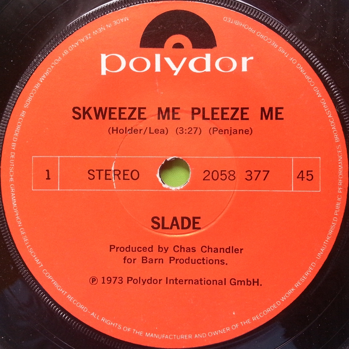 Slade Skweeze Me Pleeze Me New Zealand side 1