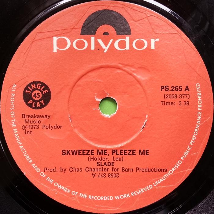 Slade Skweeze Me Pleeze Me Southern Rhodesia side 1