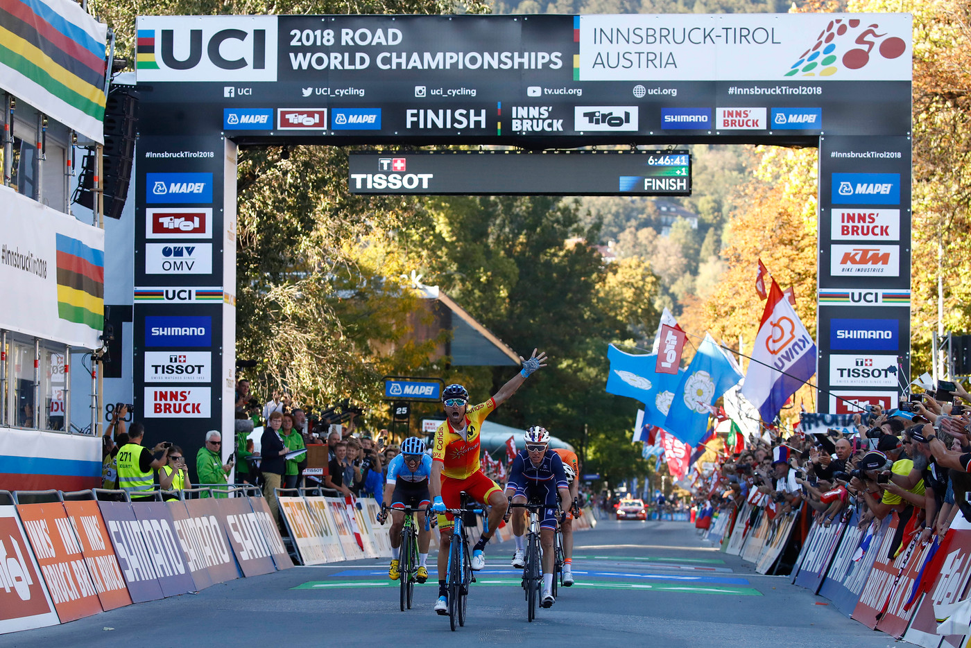 Valverde takes victory in men's elite road race