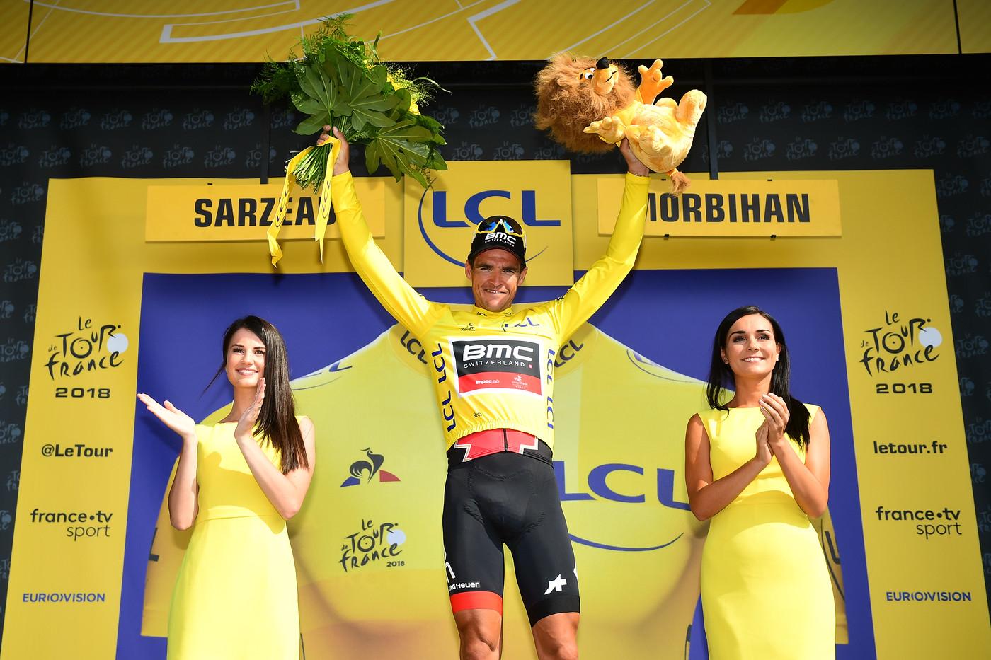 2018 Tour de France BMC on the podium
