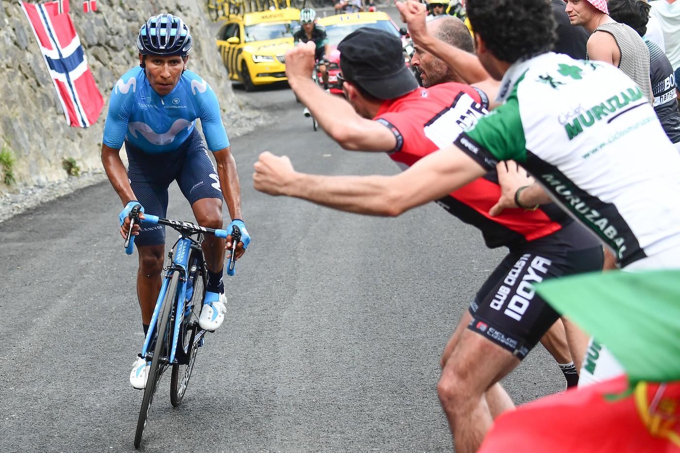 2018 Tour de France Nairo Quintana en route ot stabe win