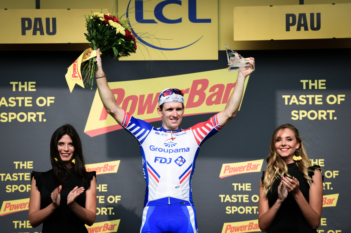 2018 Tour de France Arnaud Demare on the podium