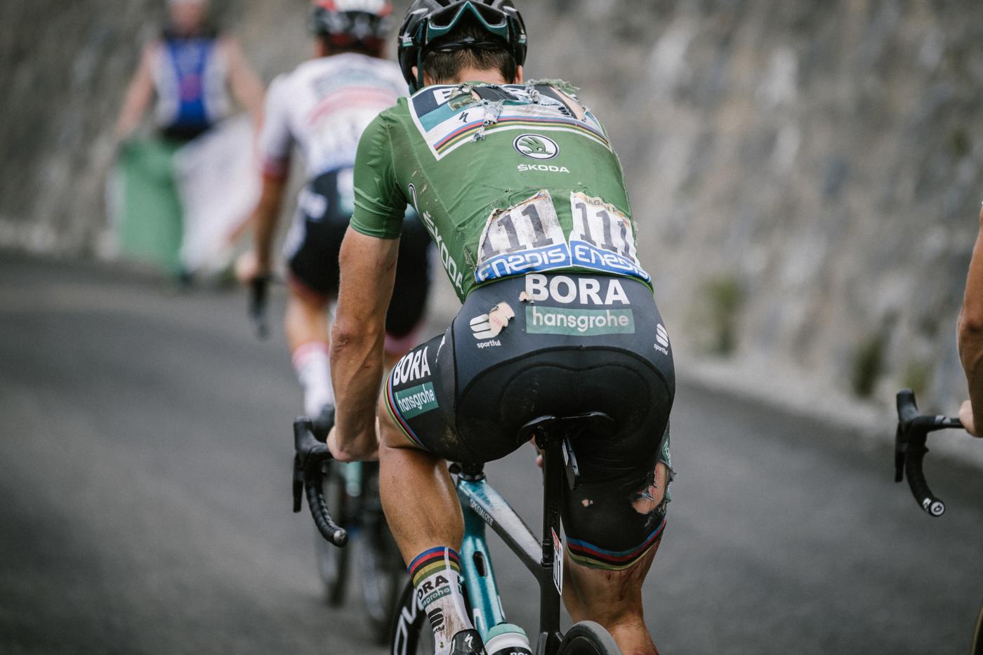 2018 Tour de France Sagan crash damage