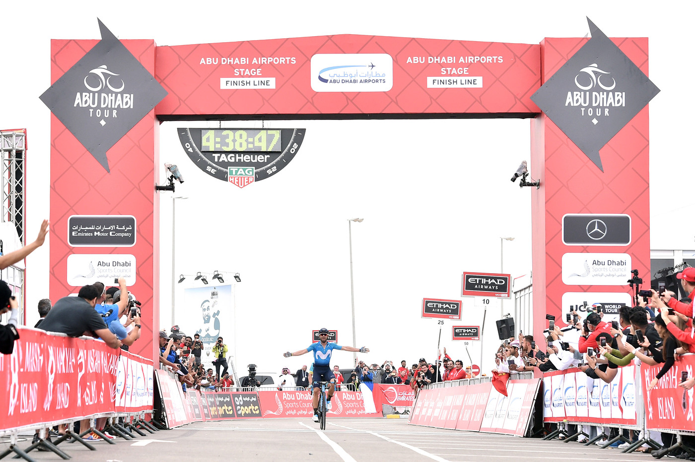 Valverde wins Stage 5 Abu Dhabi