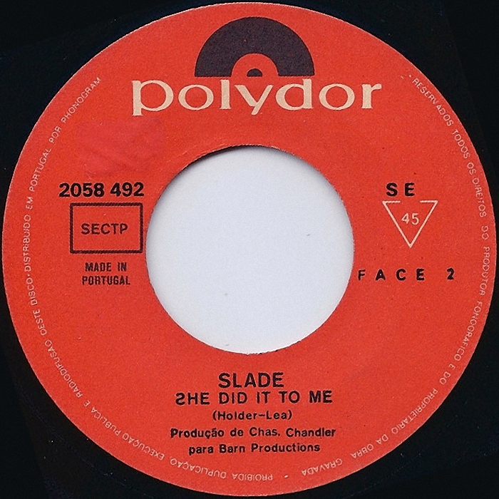 Slade The Bangin Man Portuga side 2