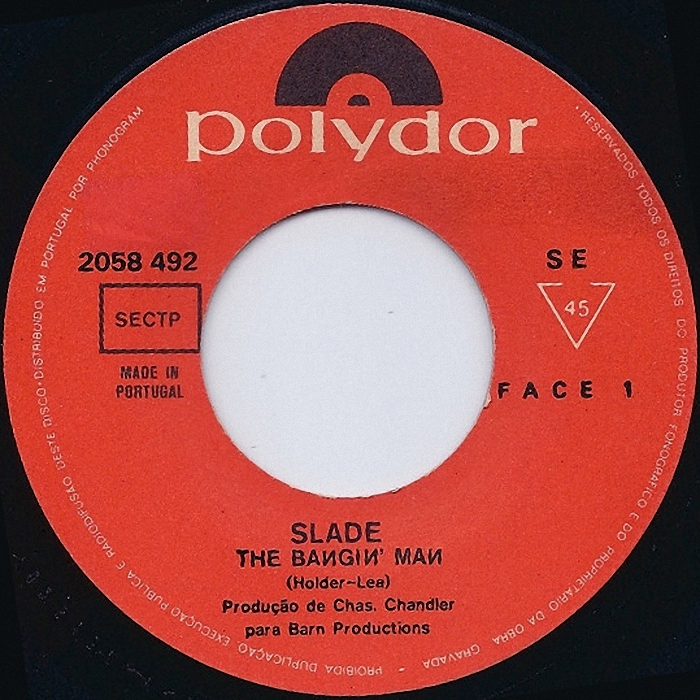 Slade The Bangin Man Portuga side 1