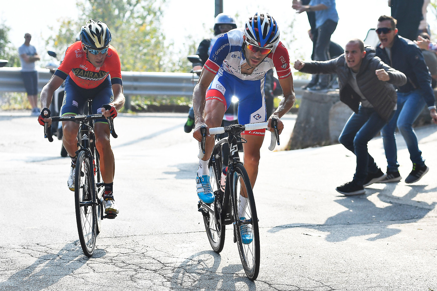 Nibali and Pinot duel it out