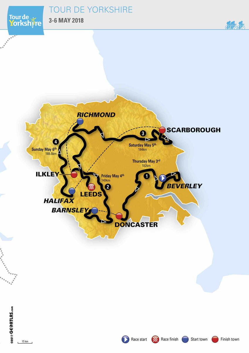 Tour of Yorkshire Route