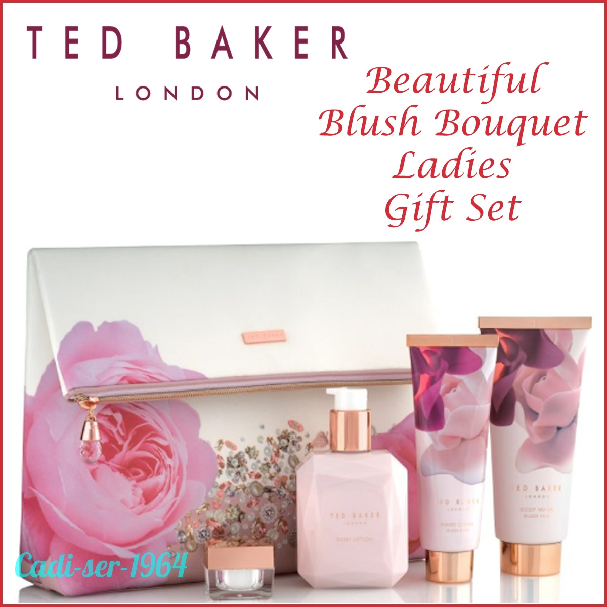 69e7f3d2f7a5d0 Details about NEW Ted Baker Blush Bouquet Cosmetic Gift Bag With Toiletries  Ladies Gift Set