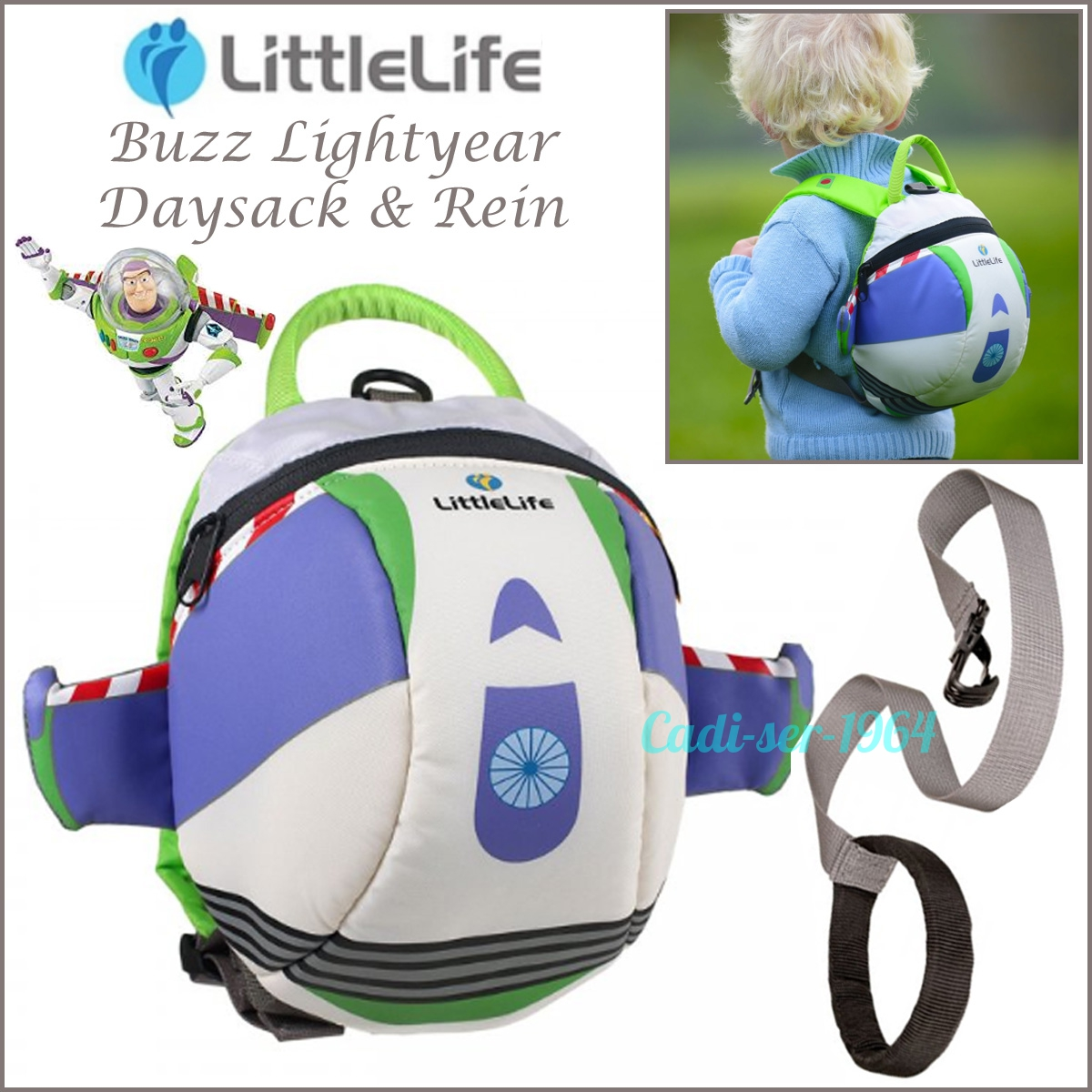 ce4cfa31bec Details about LittleLife Buzz Lightyear Toy Story Kids Child Daysack  Backpack and Safety Reins
