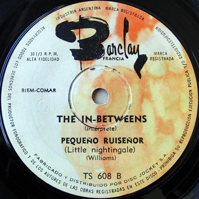 The In-Betweens Little Nightingale Argentina side 2