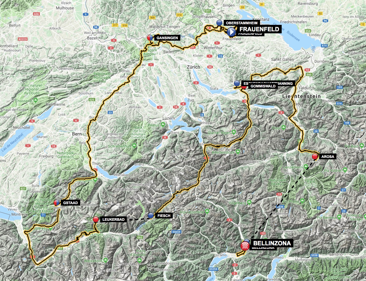 Tour de Suisse Race Route