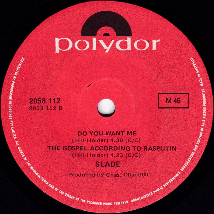 Slade Get Down And Get With It Australia side 2