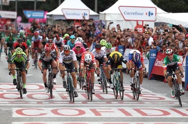 Viviani takes final stage of La Vuelta 2018 rrom Sagan