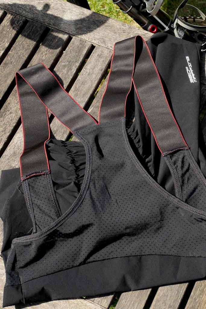 Ashmei Bib Shorts Shoukder strap and mesh