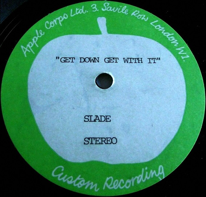 Slade Get Down And Get With It UK acetate side 1