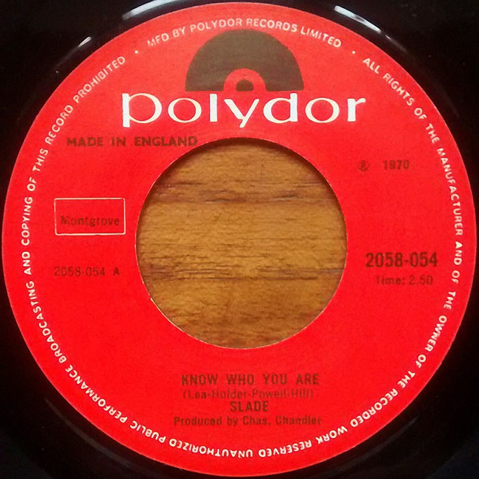 Slade Know Who You Are UK re-issued side 1