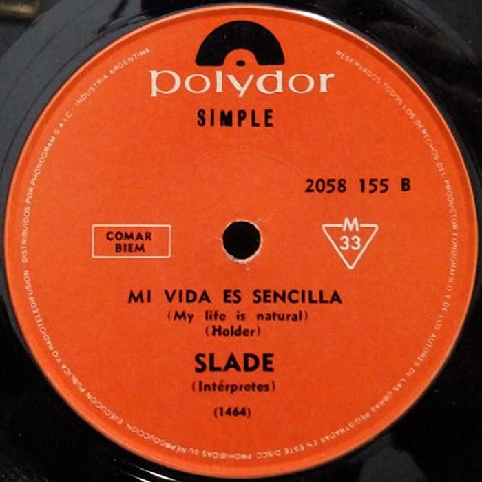 Slade Coz I Love You Argentina side 2