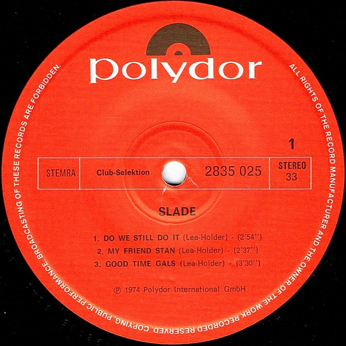 Slade Old, New, Borrowed and Blue EP Holland side 1